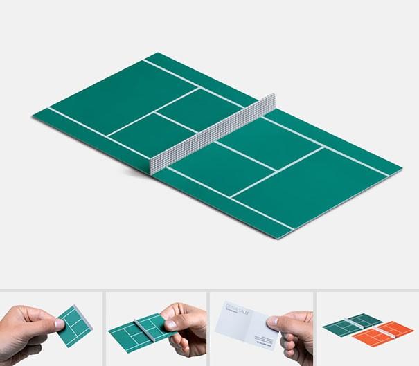 כרטיס ביקור ספורטיבי במיוחד למאמן טניס