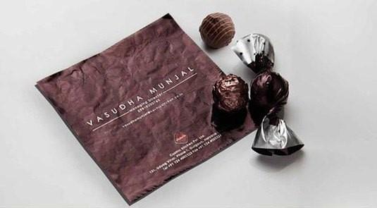 שוקולד ככרטיס ביקור. כרטיס ביקור שכיף לקבל