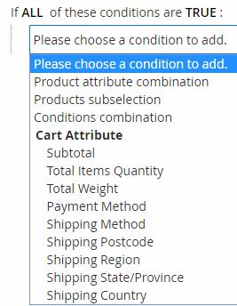 הגדרת תנאים | כללי תמחור סל קניות